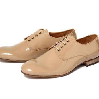 Flats Lincoln Patent Beige